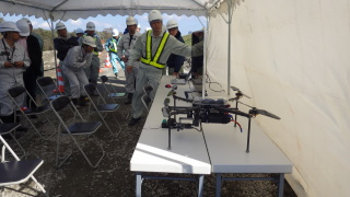 UAVによる空中写真測量デモ