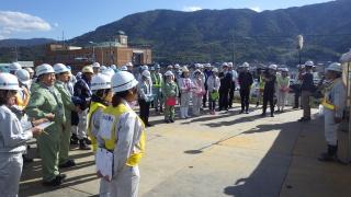 川島漏水対策工事現場にて実地